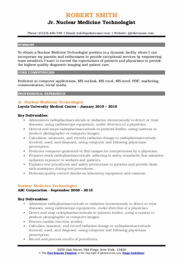 nuclear medicine technologist resume samples qwikresume pdf strong livecareer thank you Resume Nuclear Medicine Technologist Resume