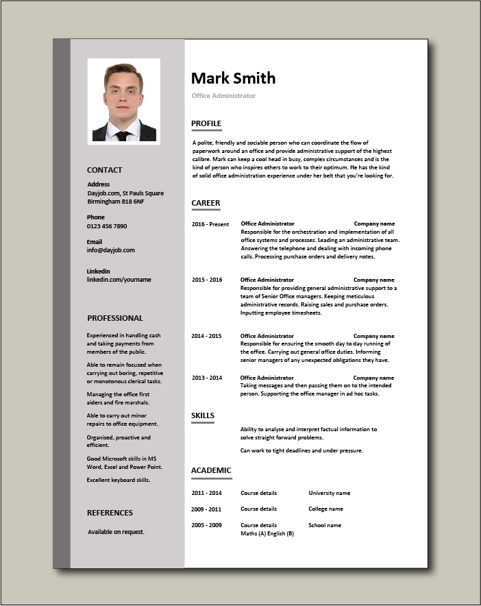 office administrator resume examples cv samples templates jobs duties administrative Resume Business Administration Job Description Resume