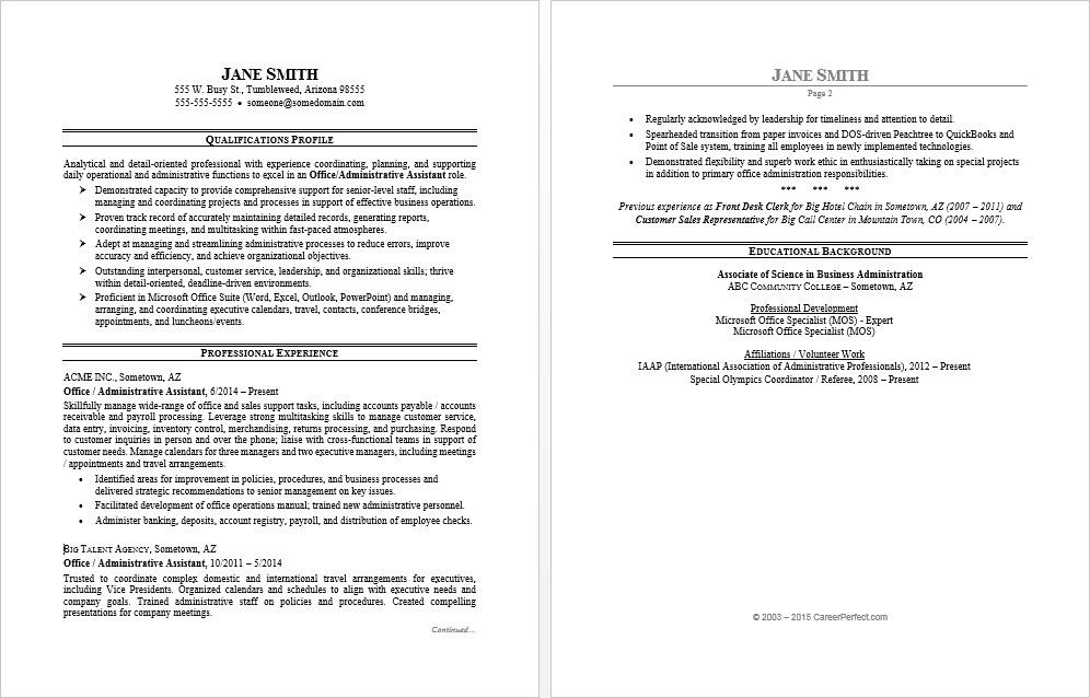 office assistant resume sample monster overview examples of microsoft employee shift Resume Resume Overview Examples