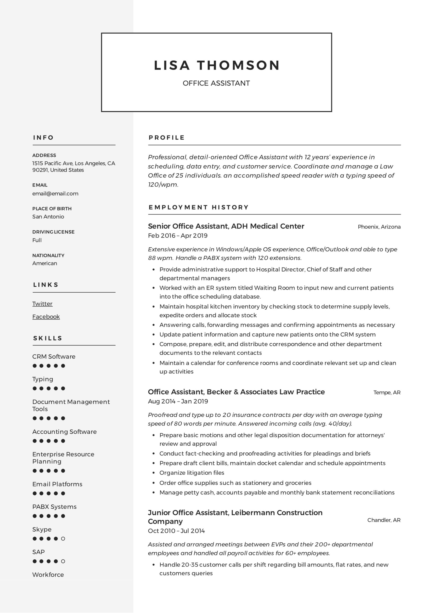office assistant resume writing guide templates duties responsibilities lisa thomson Resume Office Assistant Duties Responsibilities Resume