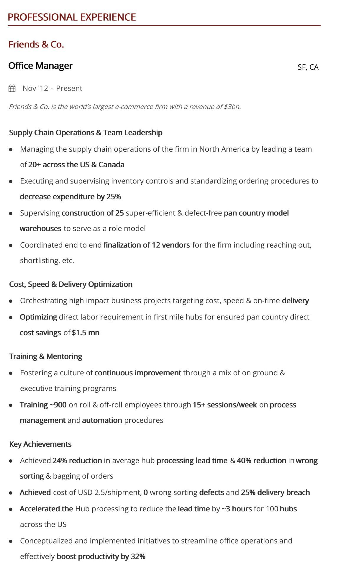 office manager resume step guide with samples examples hiration sample professional Resume Office Manager Resume Examples 2020