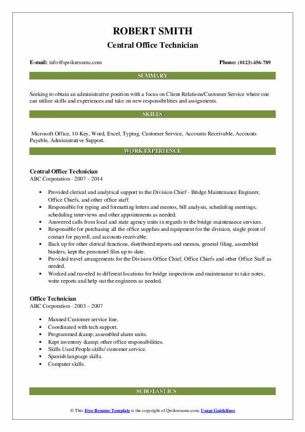 office technician resume samples qwikresume pdf statement of purpose lcsw auto fill Resume Office Technician Resume