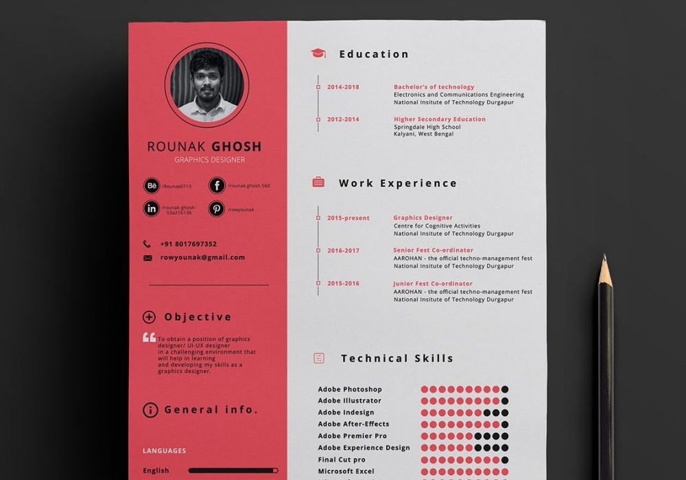 one free resume template format maxresumes with photo single 1000x700 interactive make Resume One Page Resume Template With Photo Free Download