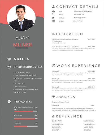 one resume examples in ms word indesign apple publisher single template for freshers bpo Resume Single Page Resume Template For Freshers