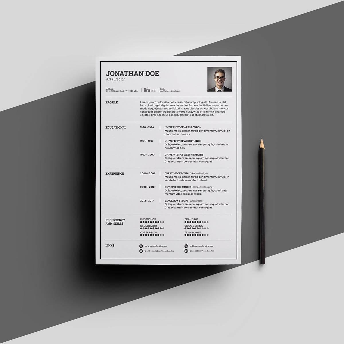 one resume templates examples of format single template for freshers informatica rural Resume Single Page Resume Template For Freshers
