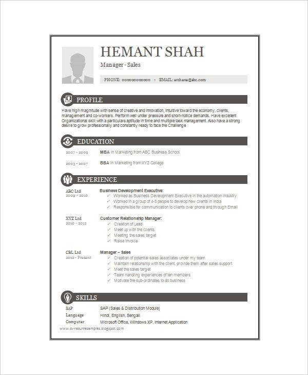 one resume templates free premium single template for freshers mba format retail loss Resume Single Page Resume Template For Freshers