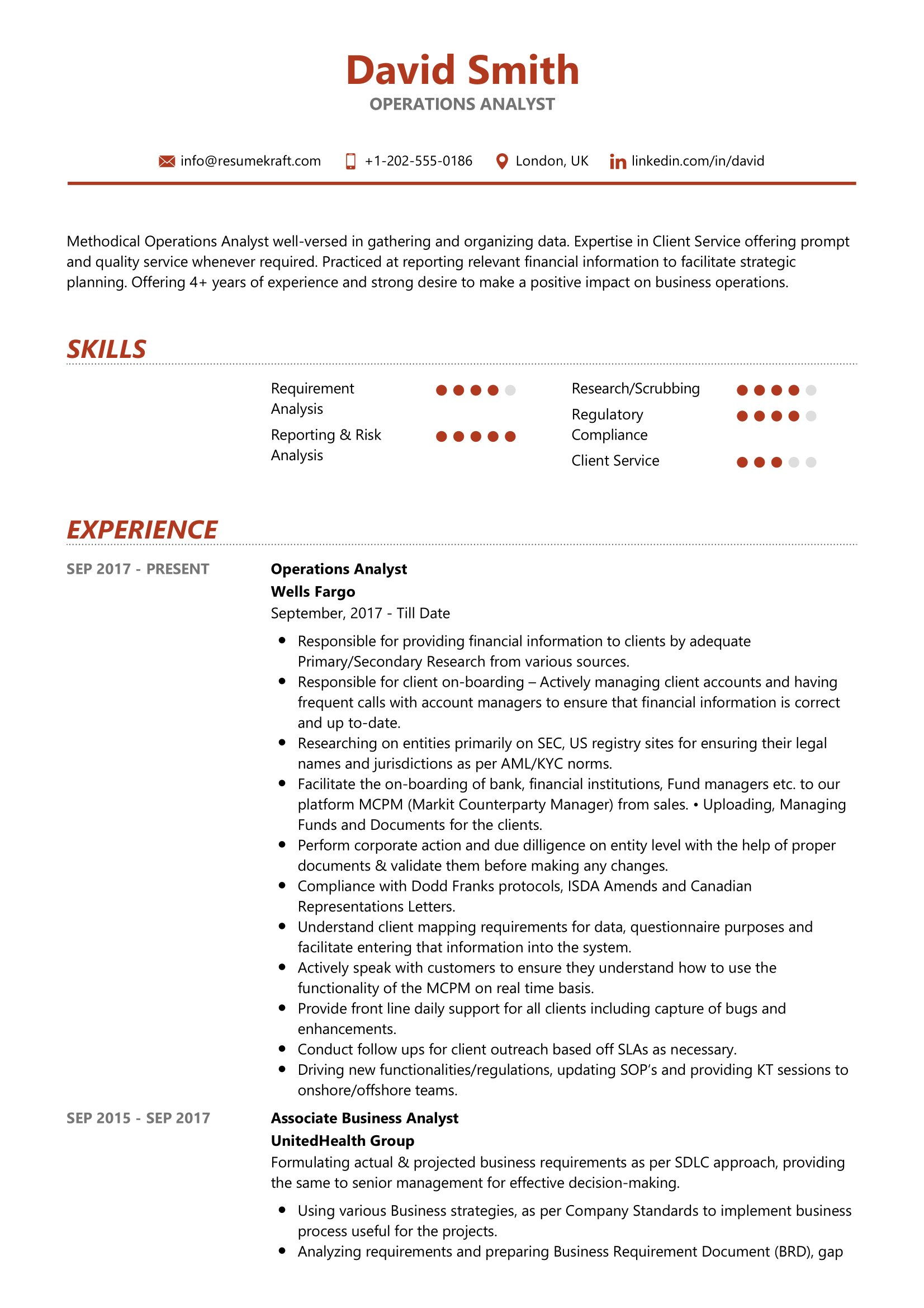 operations analyst resume sample resumekraft reporting platform manager markdown sme job Resume Reporting Analyst Resume