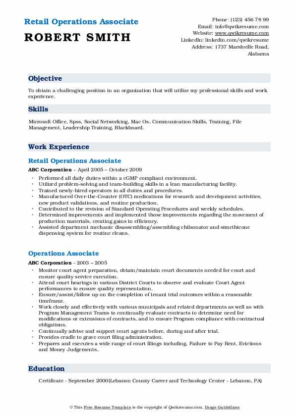 operations associate resume samples qwikresume business pdf official example mysql Resume Business Operations Associate Resume