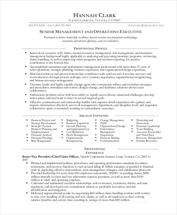 operations manager resume free sample example format premium templates business Resume Business Management Resume Example