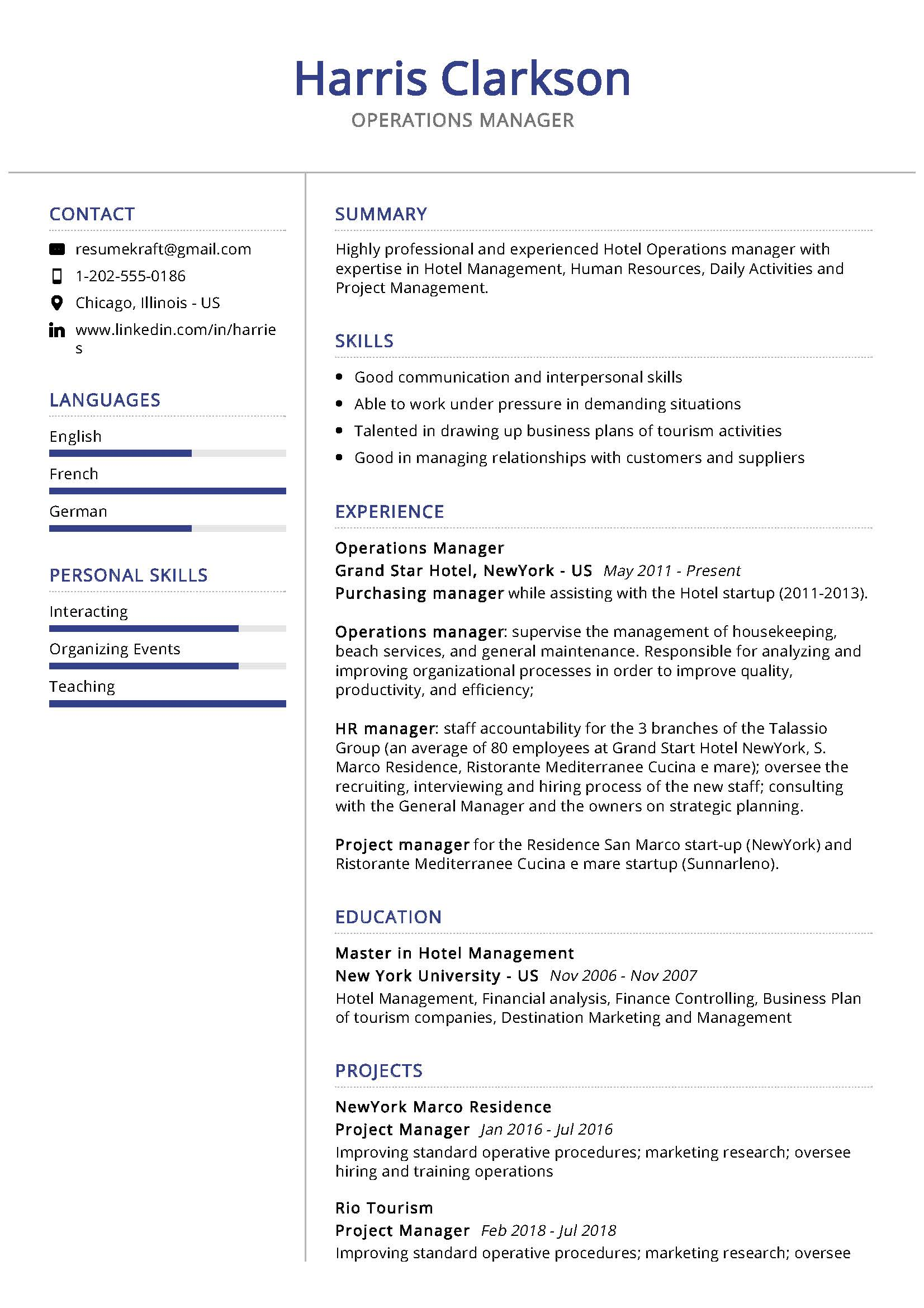 operations manager resume sample writing tips resumekraft project examples assessment Resume Project Manager Resume Examples 2020