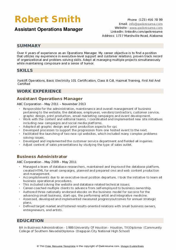 operations manager resume samples qwikresume objective statement for pdf letter of intent Resume Resume Objective Statement For Manager