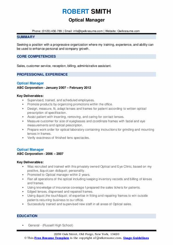 optical manager resume samples qwikresume dispensary pdf for different field office Resume Dispensary Manager Resume
