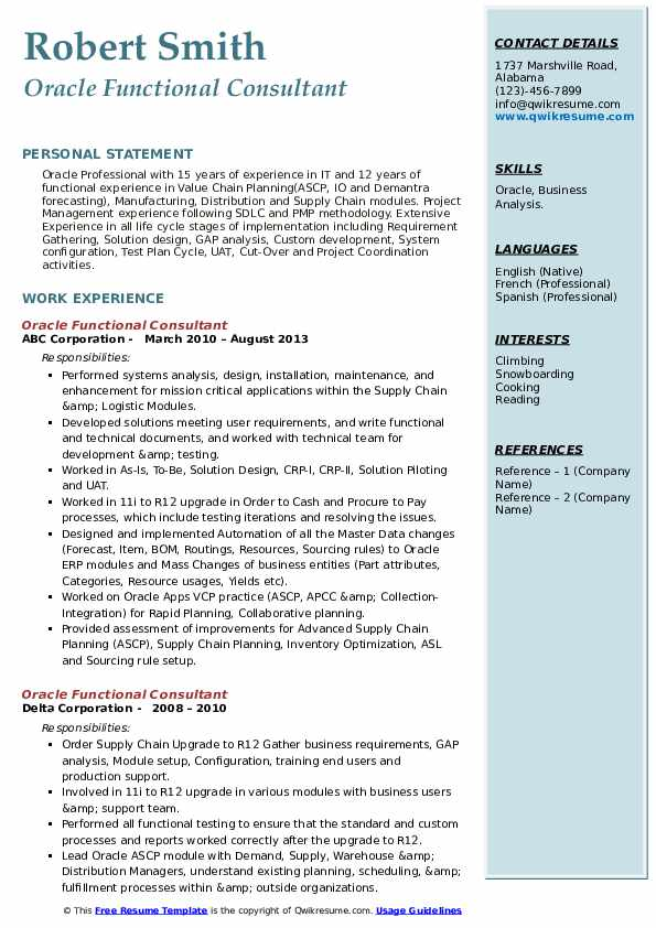 oracle functional consultant resume samples qwikresume financial sample pdf best for Resume Oracle Financial Consultant Resume Sample