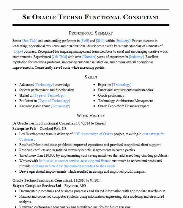 oracle functional financials consultant resume example caci ashburn financial sample best Resume Oracle Financial Consultant Resume Sample