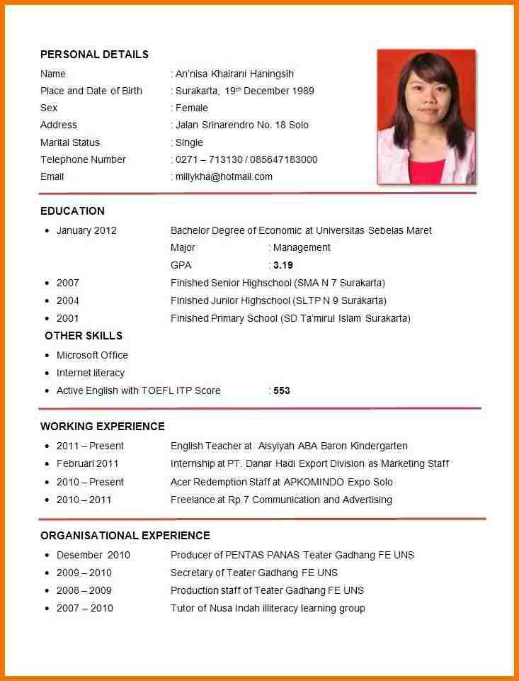 outstanding curriculum vitae format for job debbycarreau application seeker resume sample Resume Job Application Job Seeker Resume Sample