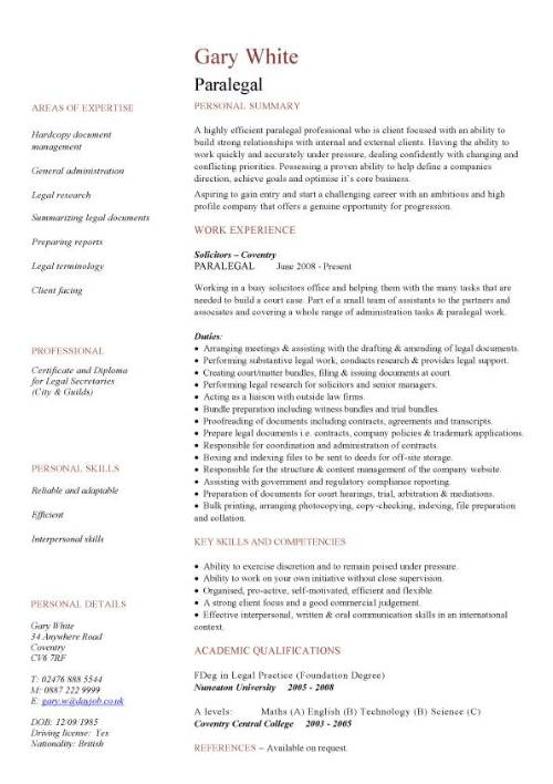 paralegal cv sample resume template pic linkedin logo for follow up with recruiter after Resume Paralegal Resume Template