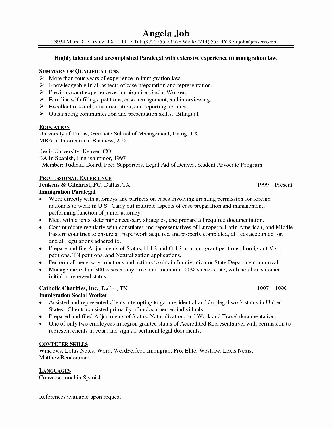 paralegal job description resume awesome best format for professionals and student Resume Immigration Paralegal Job Description Resume