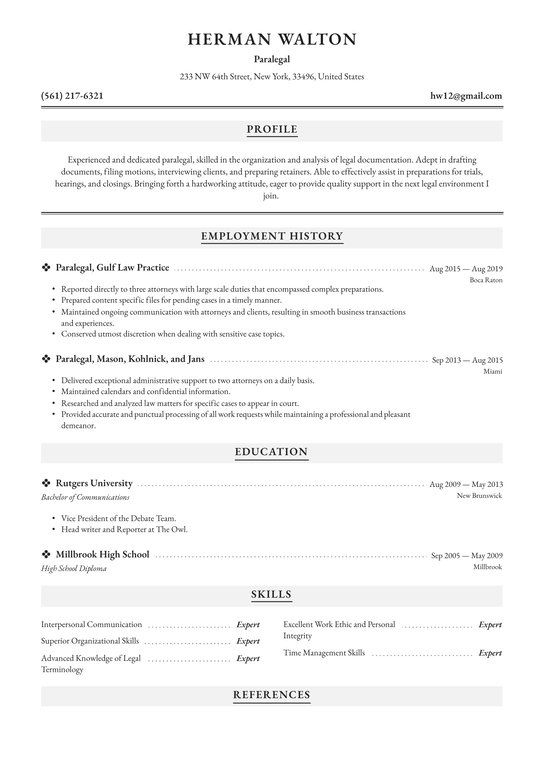 paralegal resume examples writing tips free guide io exceptional samples dotcom prime for Resume Exceptional Resume Samples