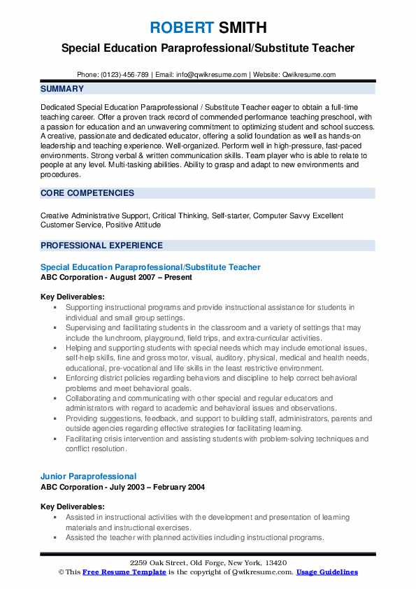 paraprofessional resume samples qwikresume family and consumer science teacher pdf Resume Family And Consumer Science Teacher Resume