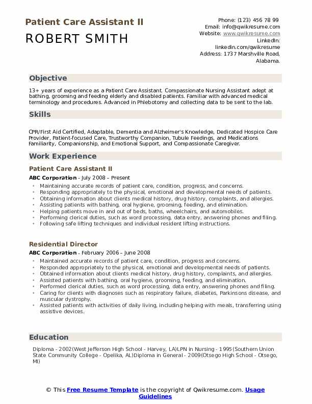 patient care assistant resume samples qwikresume personal pdf the perfect teacher typing Resume Personal Care Assistant Resume