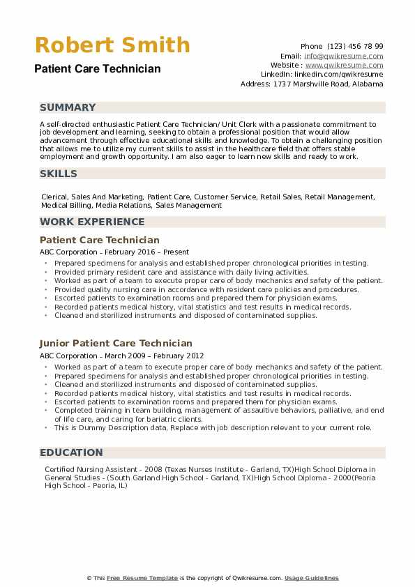 patient care technician resume samples qwikresume associate pdf telephony sway security Resume Patient Care Associate Resume