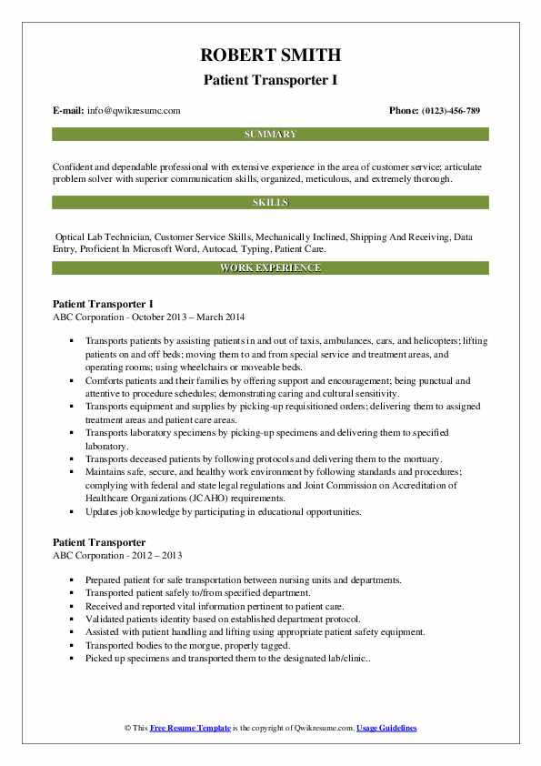 patient transporter resume samples qwikresume pdf administrative assistant job hero Resume Patient Transporter Resume