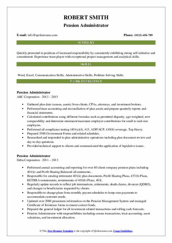 pension administrator resume samples qwikresume pdf director of facilities environmental Resume Pension Administrator Resume