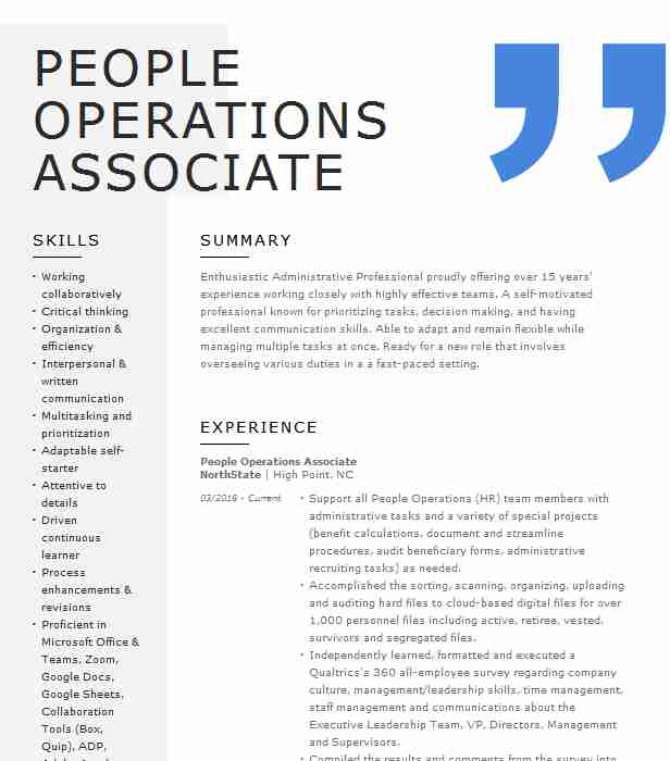 people operations associate resume example zocdoc sunnyside new medical surgical nurse Resume People Operations Resume