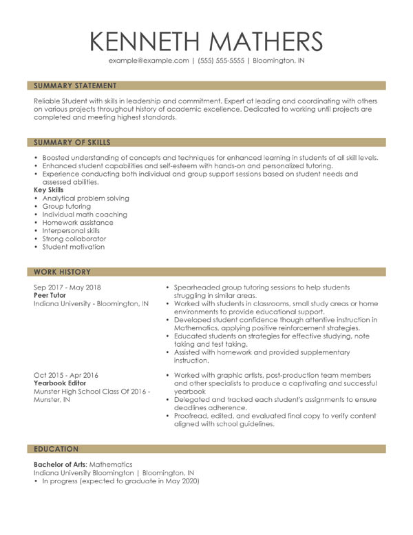 perfect resume examples for my strong combination student marketing intern freelance Resume Strong Resume Examples 2020