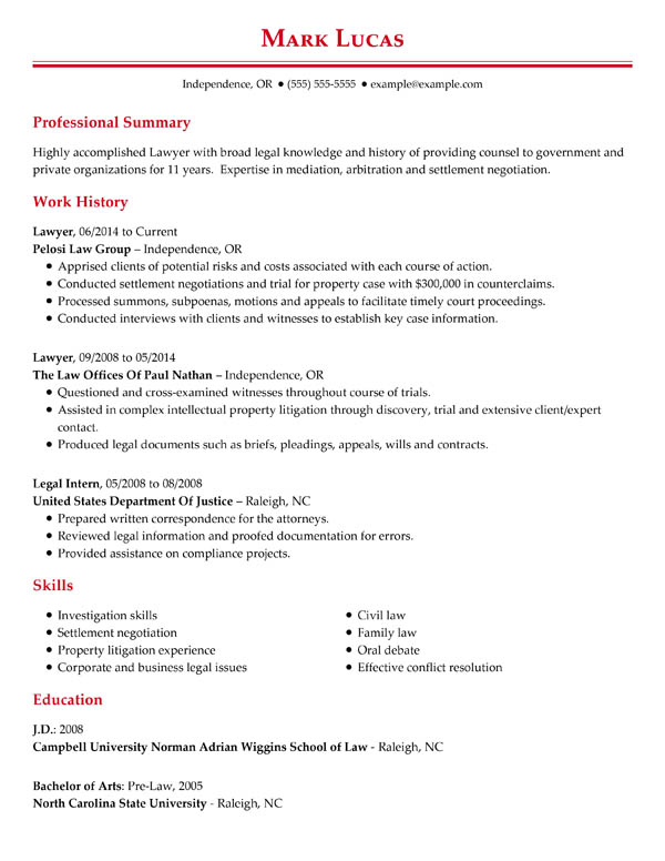perfect resume examples for my successful professional chronological lawyer adobe Resume Successful Resume Examples