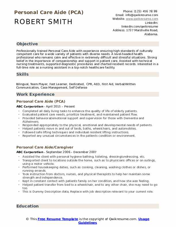 personal care aide resume samples qwikresume assistant pdf should pay for professional Resume Personal Care Assistant Resume