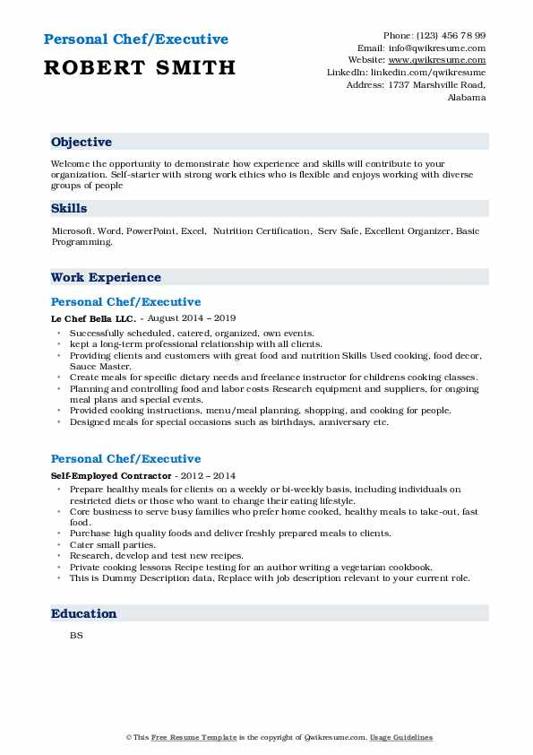 personal chef resume samples qwikresume objective pdf assembly line worker sample should Resume Personal Chef Resume Objective
