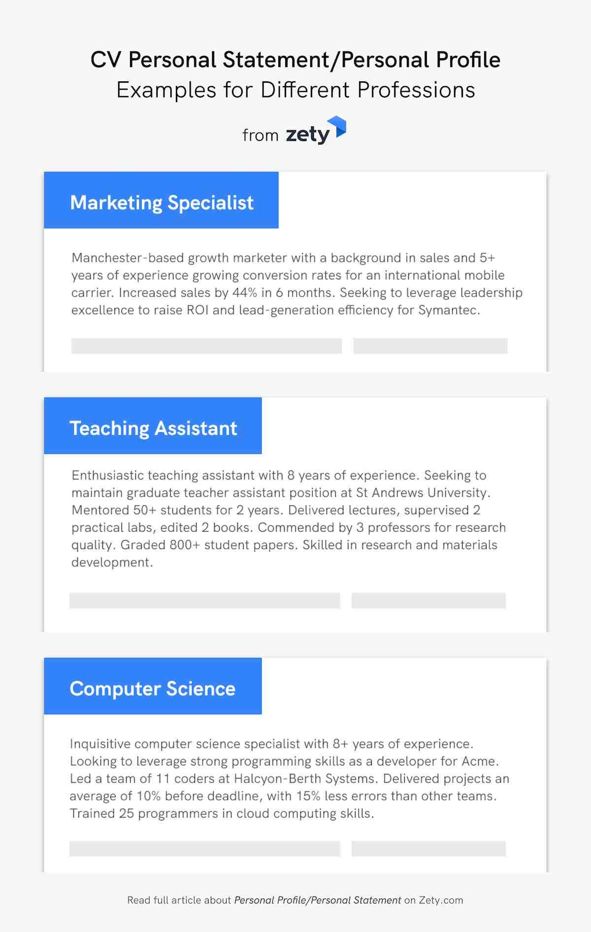 personal statement profile for resume cv examples statementpersonal different professions Resume Personal Profile Resume Examples