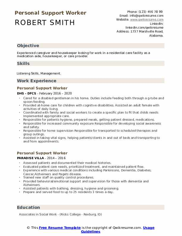 personal support worker resume samples qwikresume cover letter for psw pdf bio example Resume Cover Letter For Psw Resume