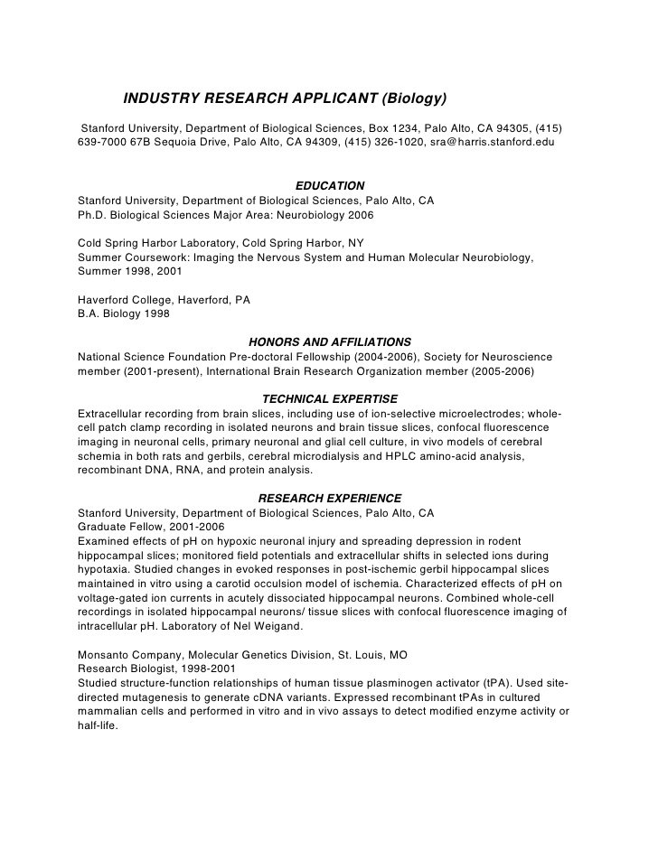 phd cv biotechnology resume for application vocabulary words tips creating the best Resume Resume For Phd Application