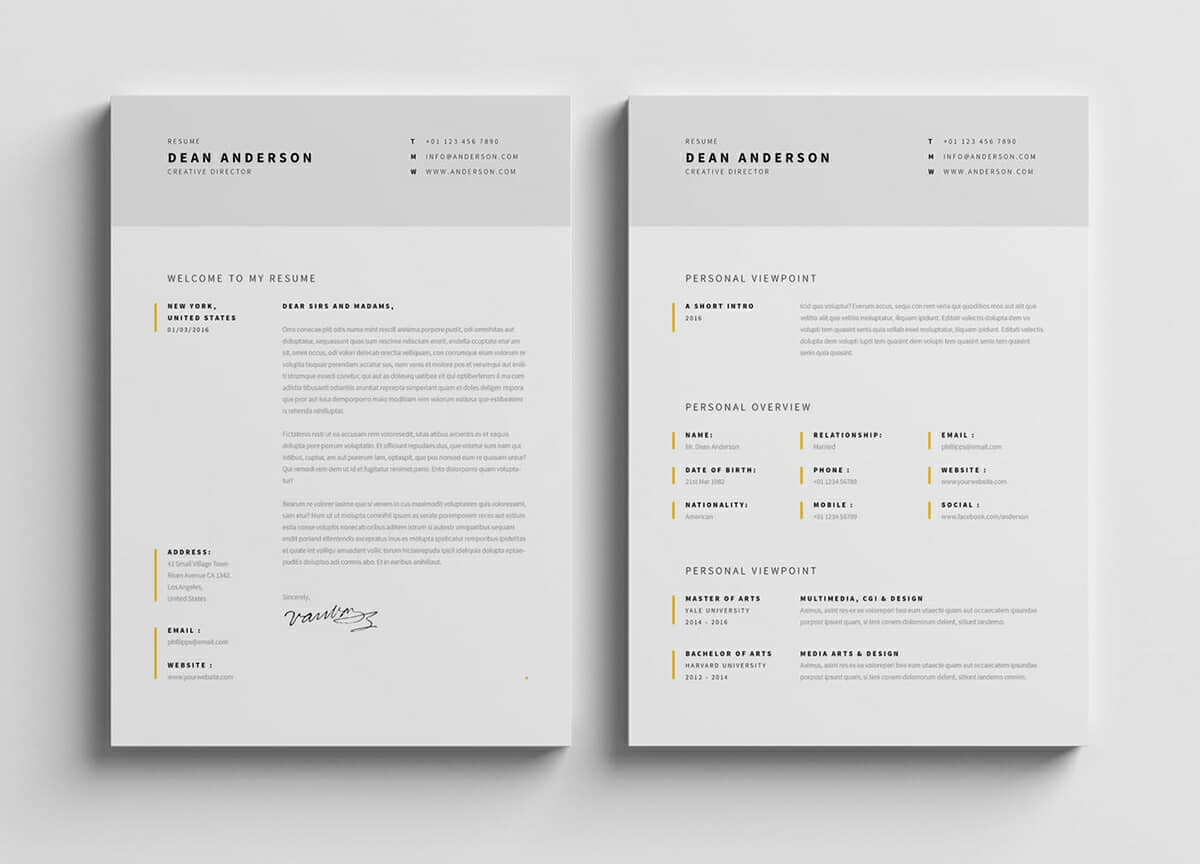 photoshop illustrator indesign resume templates template free leasing consultant summary Resume Resume Indesign Template Free Download