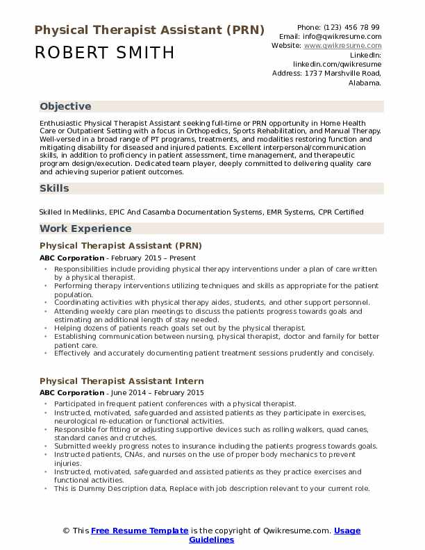 physical therapist assistant resume samples qwikresume examples for pdf fences change Resume Resume Examples For Physical Therapist Assistant