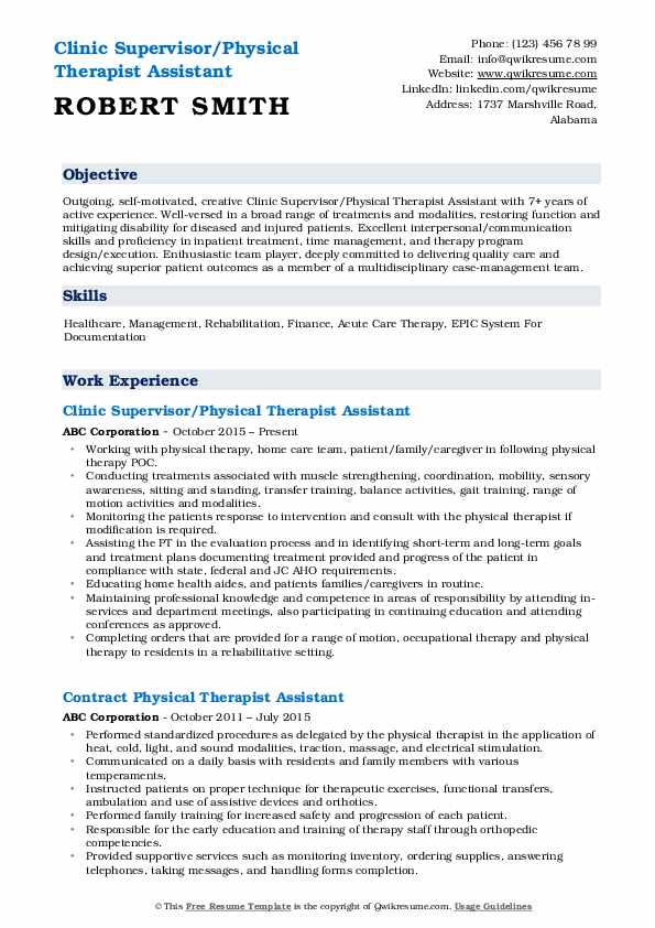 physical therapist assistant resume samples qwikresume pdf creator with photo personal Resume Physical Therapist Assistant Resume