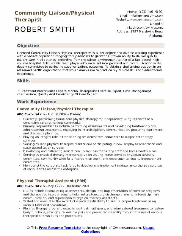 physical therapist resume samples qwikresume sample therapy pdf collections coordinator Resume Sample Physical Therapy Resume