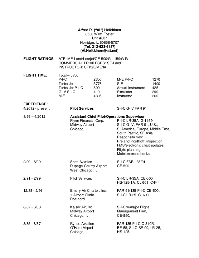 pilot resume flight instructor entry level customer service objective examples computer Resume Flight Instructor Resume