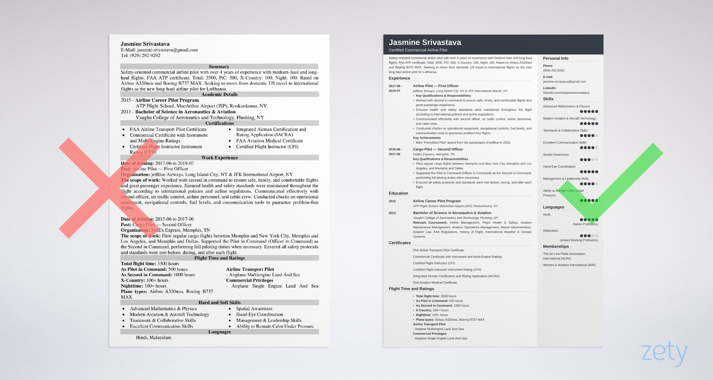 pilot resume template examples for aviation professionals flight instructor example Resume Flight Instructor Resume
