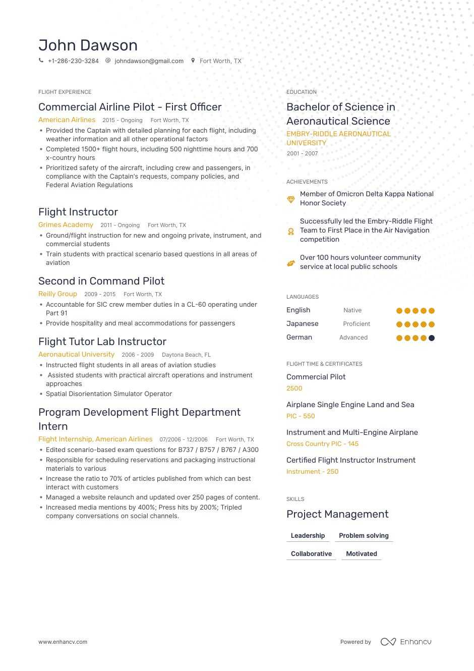 pilot resume ultimate writing guide to land job edition flight instructor generated Resume Flight Instructor Resume