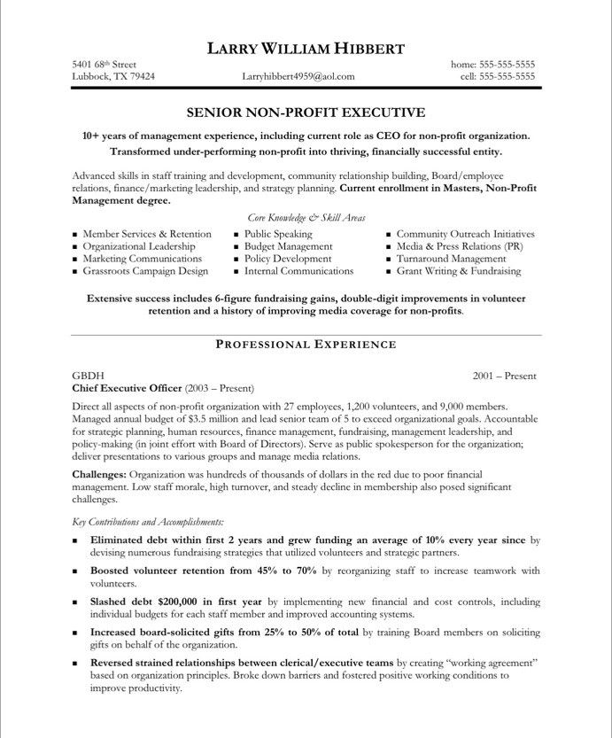 pin by blue sky resumes on non profit resume samples free executive template sample Resume Nonprofit Executive Director Resume