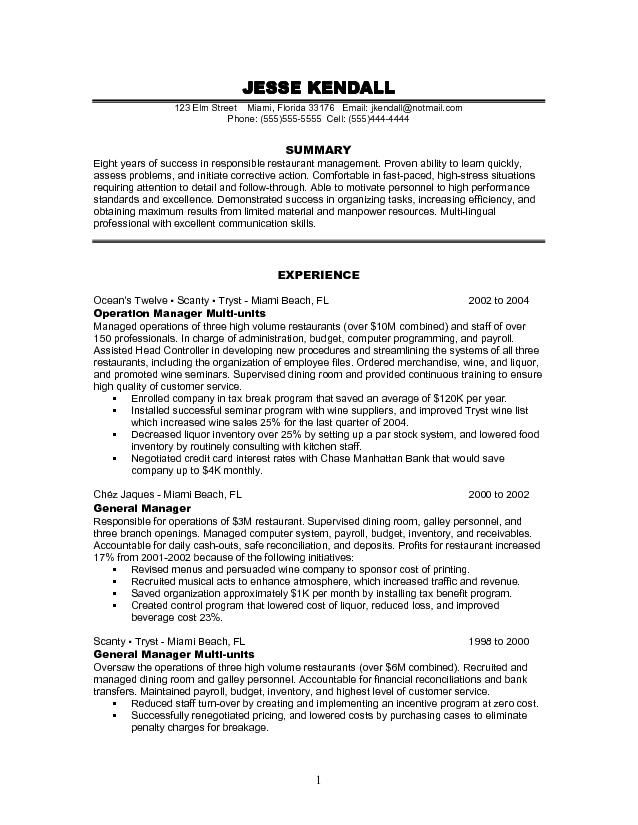 pin by kristina on resumes job resume samples objective examples restaurant build Resume Restaurant Resume Objective