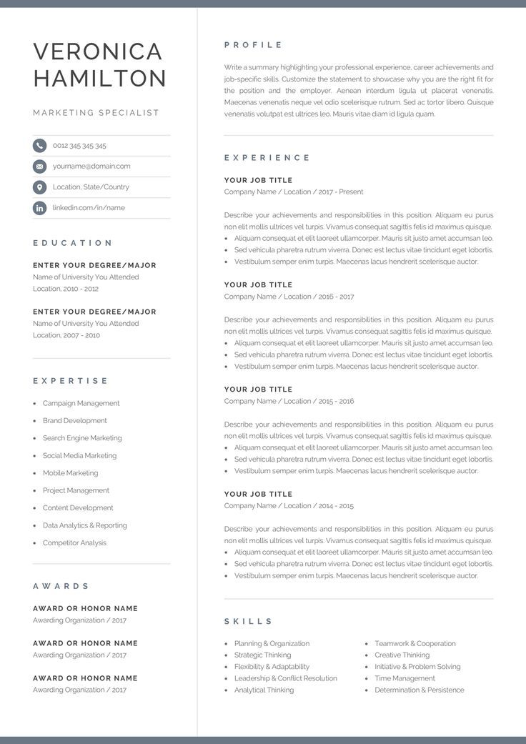 pin by olympia resume professional on graphics design in template one microsoft word Resume Microsoft Word One Page Resume Template