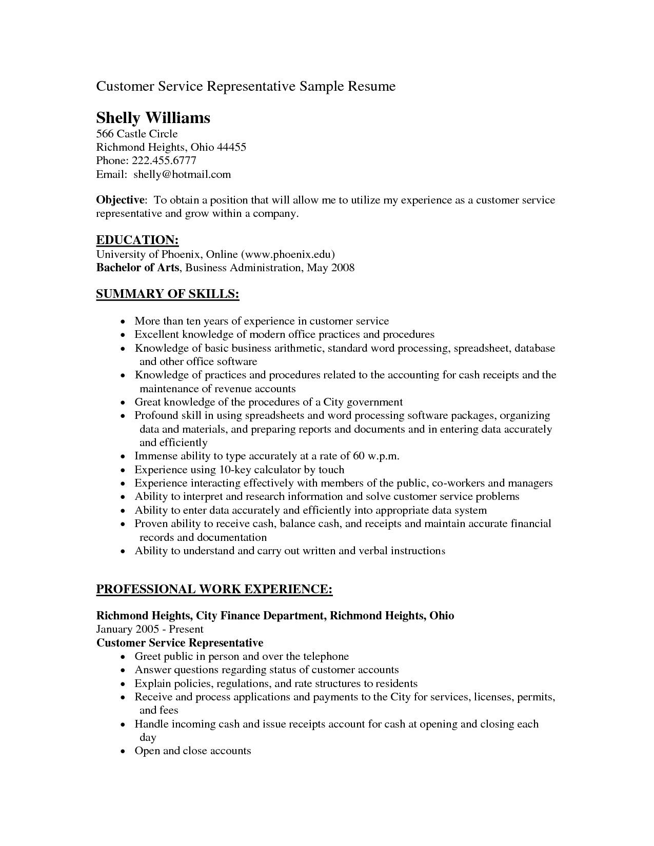 pin by sktrnhorn on resume letter ideas objective examples job customer service career Resume Career Objective For Resume Customer Service
