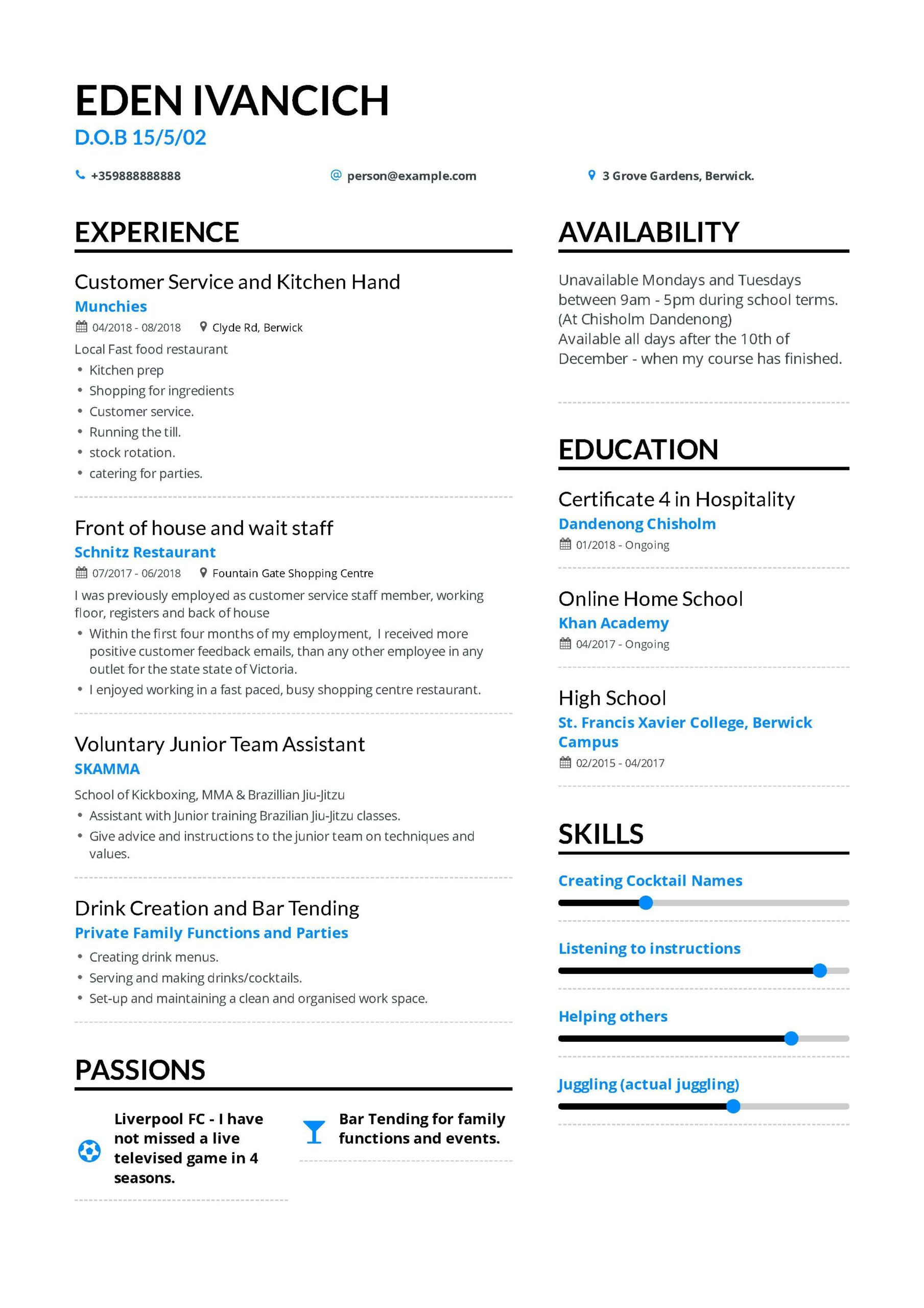 pin on education and learning resume examples availability example ucla help now cancel Resume Availability Resume Example