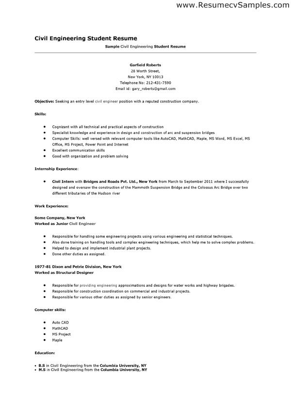 pin on resume job engineering student template counselor description hotel and restaurant Resume Engineering Student Resume Template
