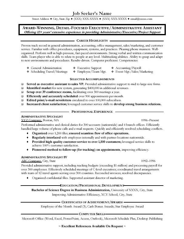 pin on resume templates administrative assistant admin sample seo years experience office Resume Administrative Assistant Admin Assistant Resume Sample
