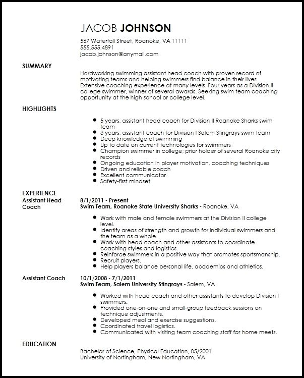 pin on sports coach professional athlete resume sample two column format executive rescue Resume Professional Athlete Resume Sample
